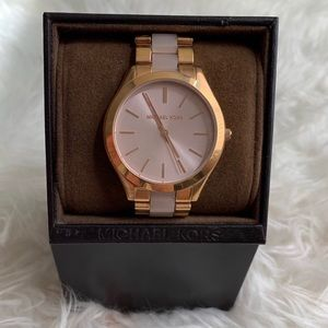 Michael Kors Slim Runway Rose Gold Watch